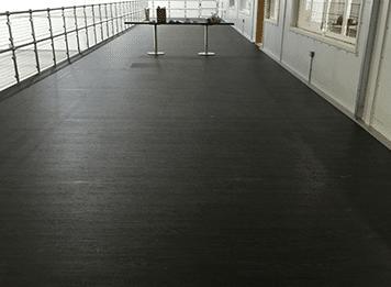 Non-slip safety flooring